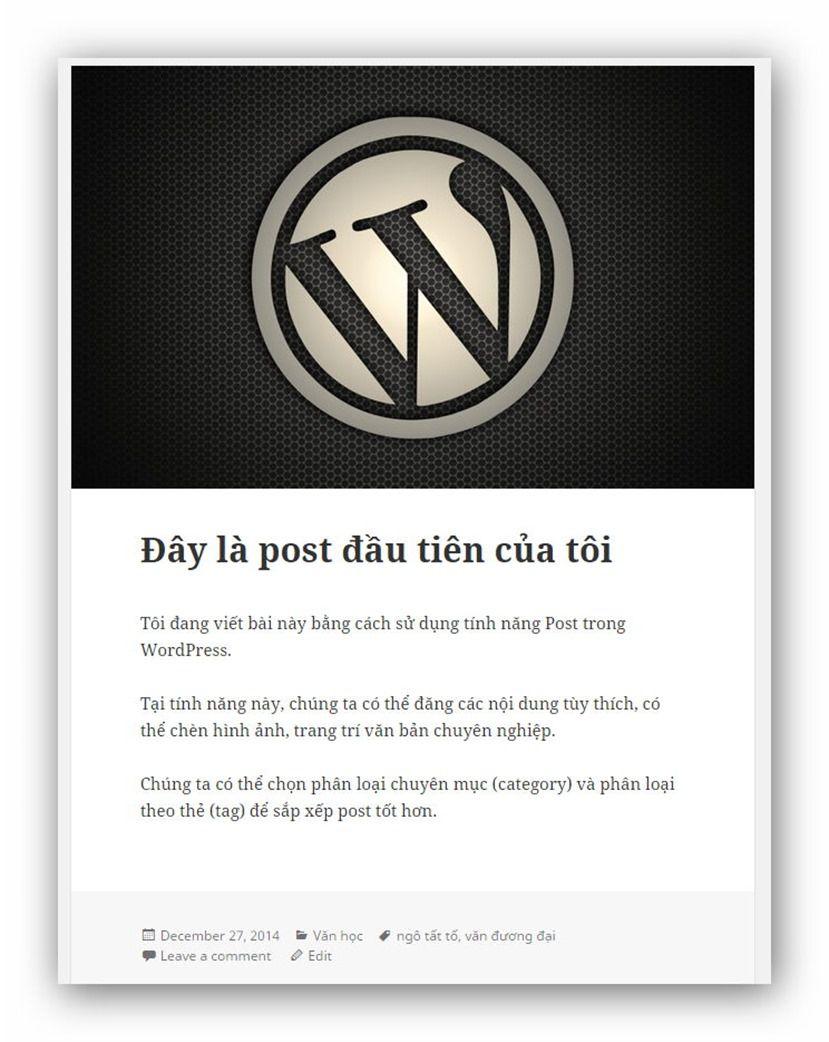 Đăng post lên wordpress đơn giản