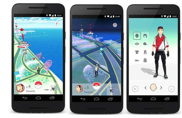 giao diện game Pokemon Go trên điện thoại